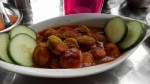 Curry wurst special--3 Euros and enough for two people